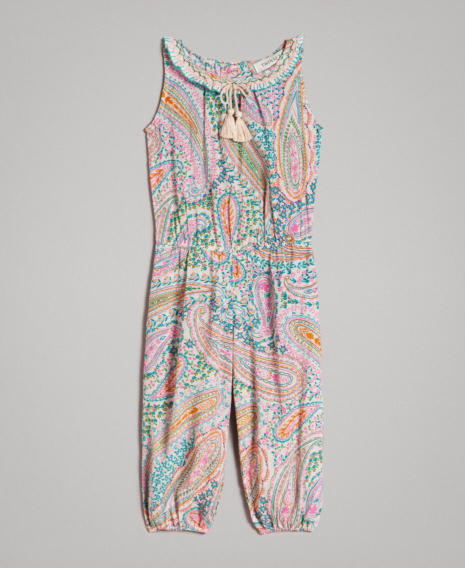 Viscose jumpsuit with paisley print Paisley Print Child 191GB2510-01