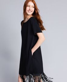 Envers satin dress Black Woman QA8TGQ-01