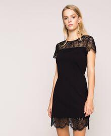 Robe fourreau avec dentelle Noir Femme 201TP212A-02