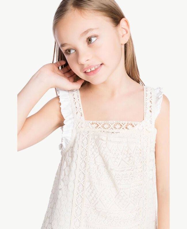 "Lace dress Two-tone ""Papyrus"" White / Chantilly Child GS82Z3-05"