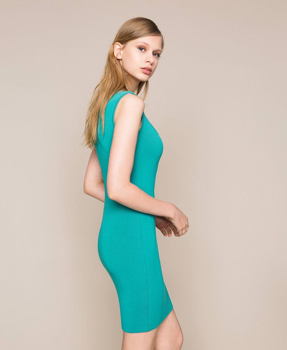 Vestido de tubo de punto Verde Hoja de té Mujer 201TT3180-02