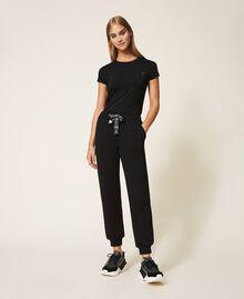 Pantalon de jogging en scuba Noir Femme 202LI2JNN-01