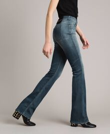 Fadeout bell bottom jeans Denim Blue Woman 191MP2475-02