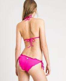 """Трусики-бразилиана с завязками и рюшами Фуксия """"Ядовитый розовый"""" женщина 191LBMHNN-03"""