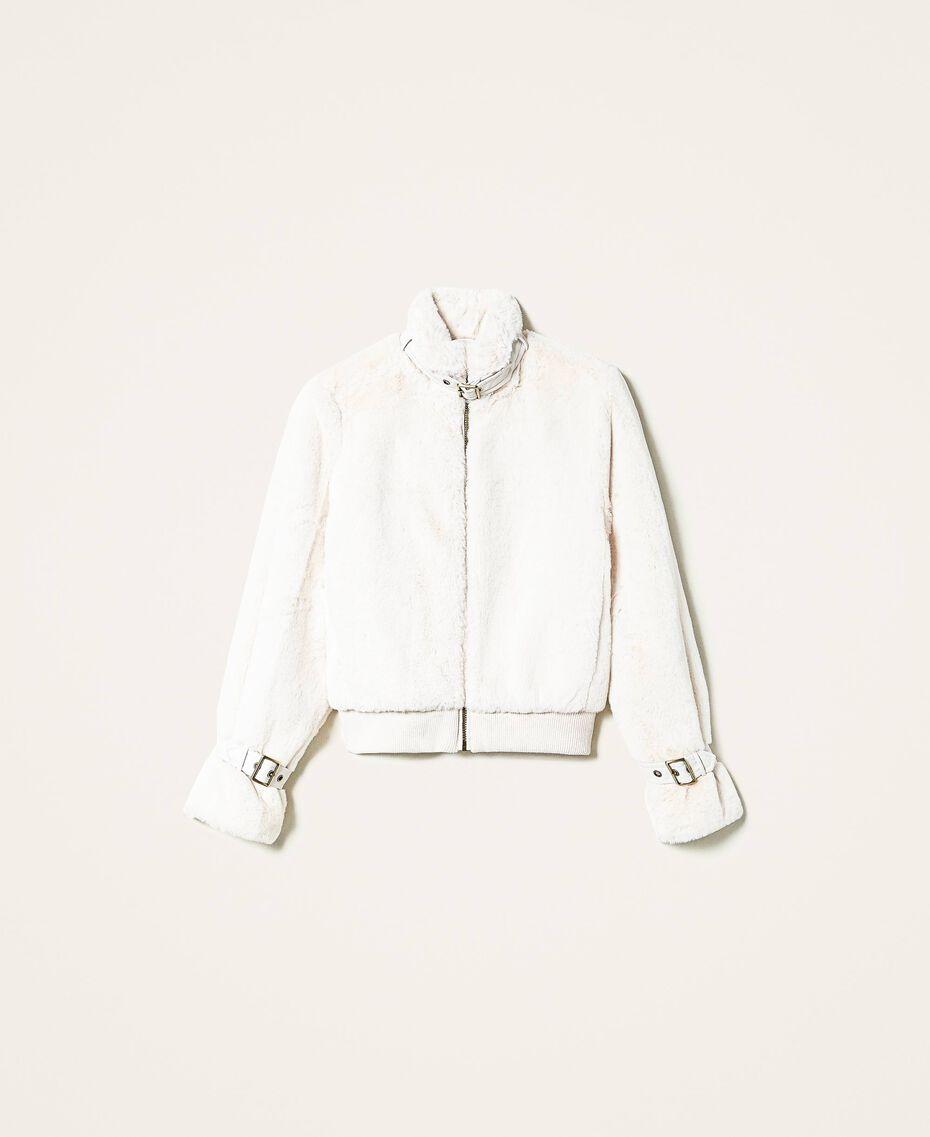 Faux fur jacket Creamy White Woman 202MP203A-0S