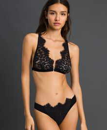 Culotte brésilienne en dentelle Noir Femme 192LI6177-01
