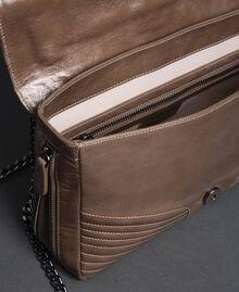 Grand sac à bandoulière Rebel en cuir Tourterelle Femme 192TA7233-05