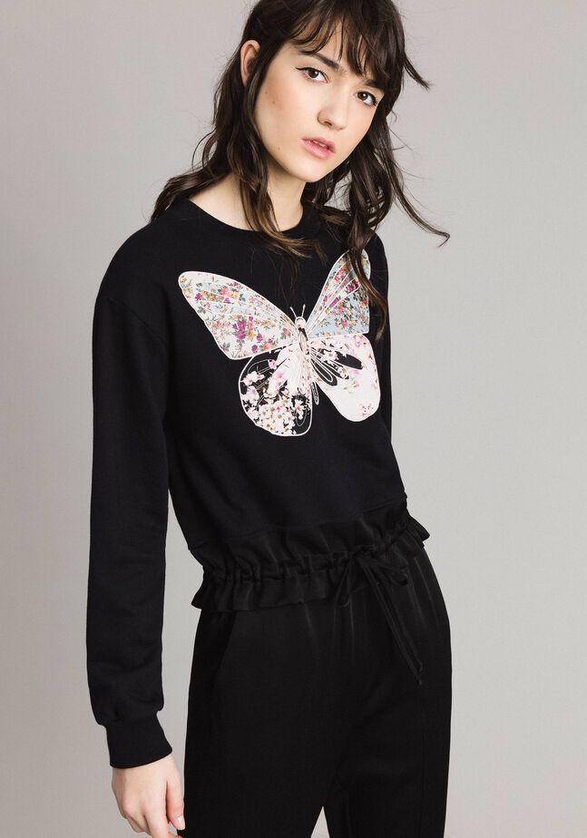 Butterfly embroidery sweatshirt