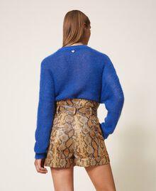 Animal print faux leather shorts Walnut / Tobacco Snakeskin Print Woman 202TT2226-03