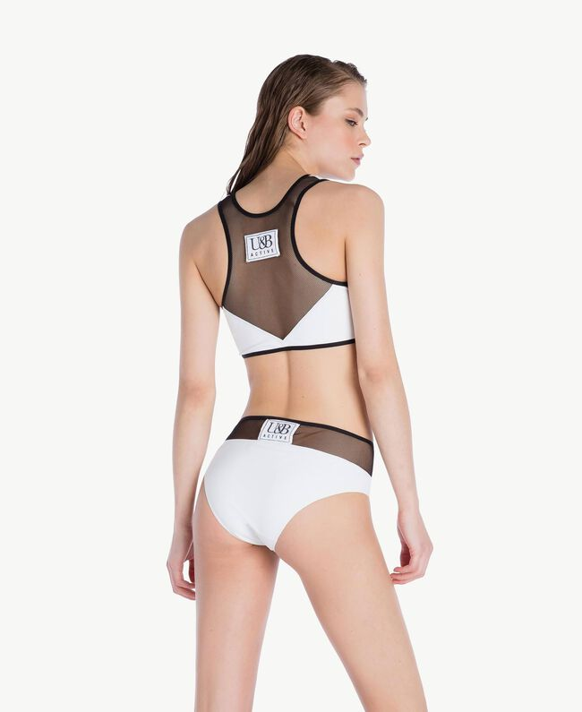 Tulle briefs Optical White / Black Woman LS83MM-04