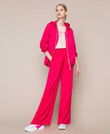 Flowing satin palazzo trousers Wild Rose Woman 201MT2032-0T