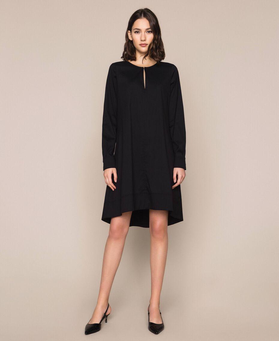 Поплиновое платье Черный женщина 201MP218G-01