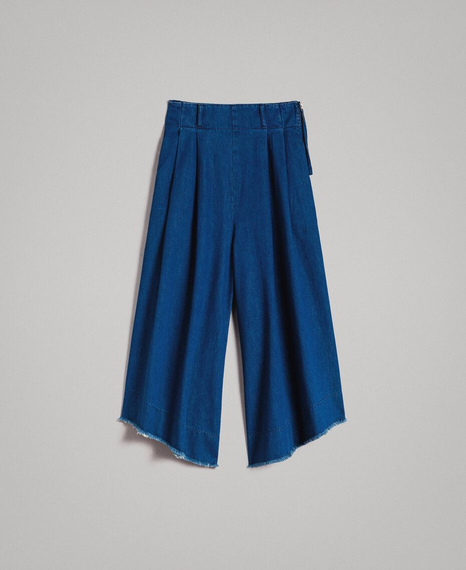 Jeans wide leg a vita alta Denim Blue Donna 191MT2422-0S