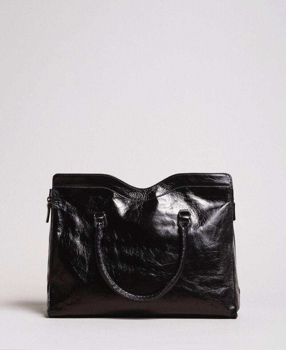 Rebel leather shopping bag Black Woman 191TA7235-03
