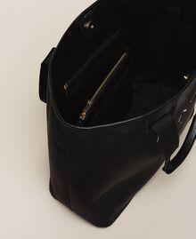 Borsa shopper in velluto con pochette Nero Donna 999TA7010-05