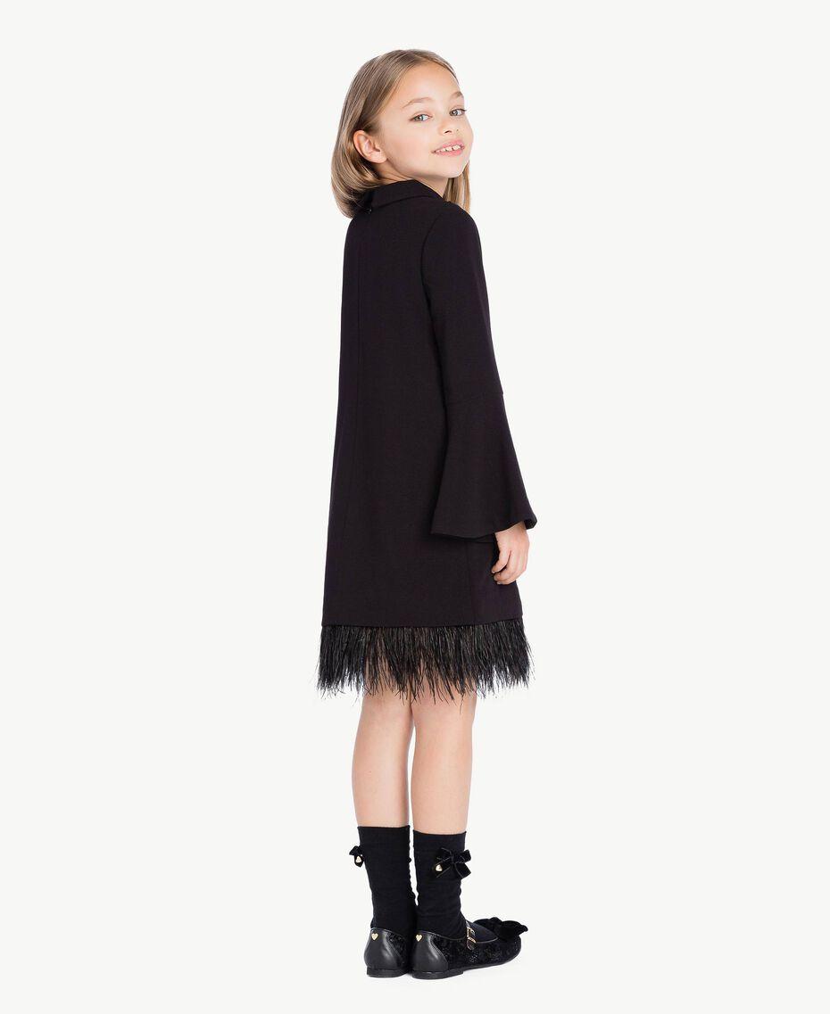 Kleid mit Federn Schwarz GA72M1-03