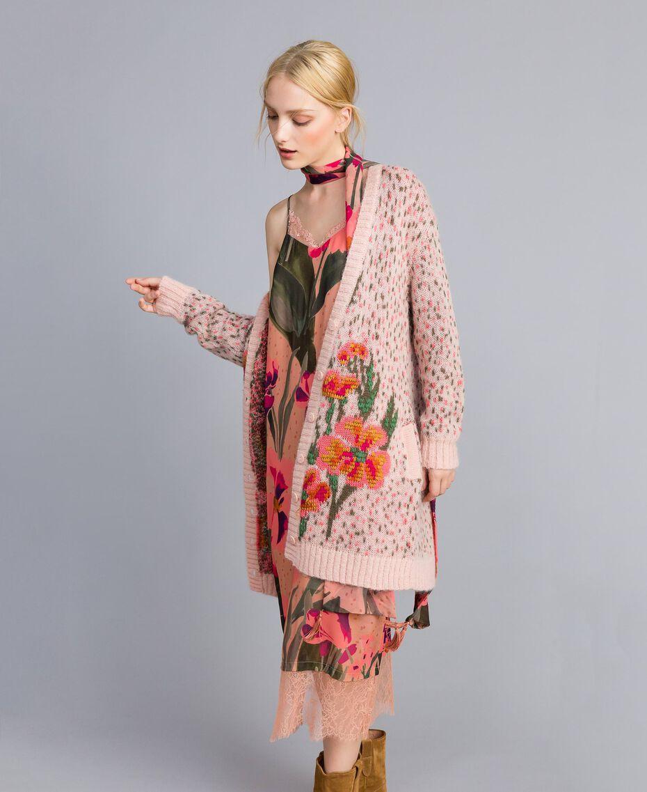 Robe nuisette en crêpe georgette imprimé Imprimé Rose Grande Tulipe Femme TA828U-0T