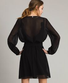 Georgette shrug with bow Black Woman 191ST2206-04