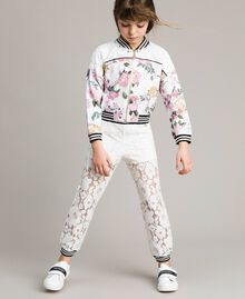 Fleece floral tracksuit and lace Ramage Butterfly Print Child 191GJ2131-0S