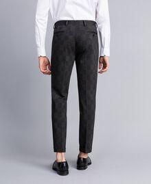 Printed blazer and trousers set Grey Melange Check Print Man UA82BN-06