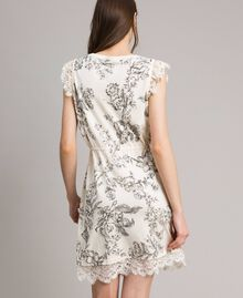 Robe en maille fantaisie Gros Imprimé Fleur Noir Femme 191TT3180-04