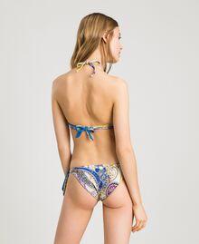 """Bas de bikini tanga avec imprimé paisley Imprimé Paisley / Beige """"Voie Lactée"""" Femme 191LMMS77-03"""