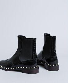 Pear leather beatles Black Woman CA8PKN-02