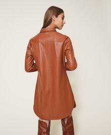 Платье-рубашка из искусственной кожи Красный Терракота женщина 202LI2GEE-03