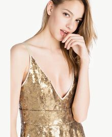 All over sequin dress Gold Yellow Woman TS82ET-04