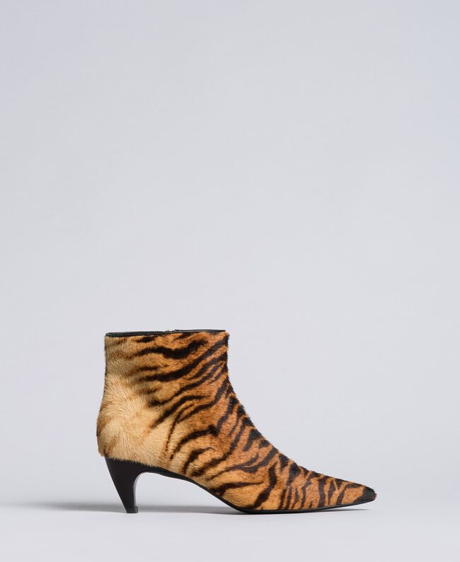 "Ankle-Boot mit Animalierprint Print ""Tiger"" Frau CA8TEC-01"