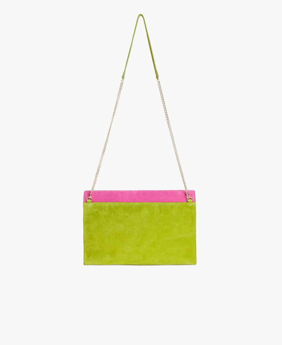 TWINSET Double flap shoulder bag Multicolour Kiwi / Provocateur Pink / Fuchsia Woman OS8TDP-03
