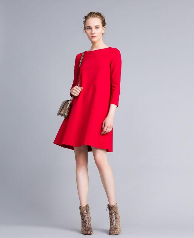 A-Linien-Kleid aus Interlock-Jersey Venedigrot Frau PA821U-0T
