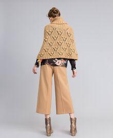 Cappa in maglia mélange Camel Donna PA83LA-03