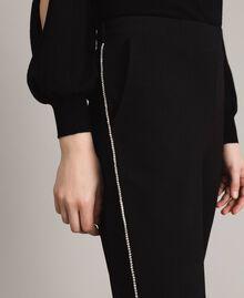 Pantalon cigarette strassé Noir Femme 191LB22KK-05