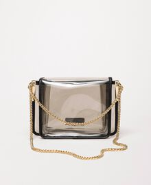 PVC Bea Bag with chain strap Grey Woman 201TO8200-03