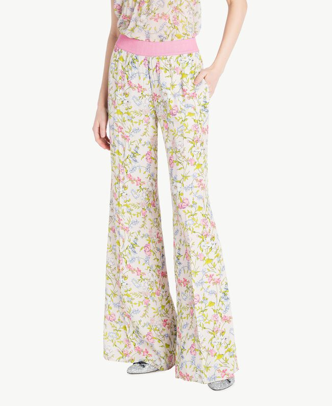 Printed palazzo pants Spring Print Woman PS82PE-01