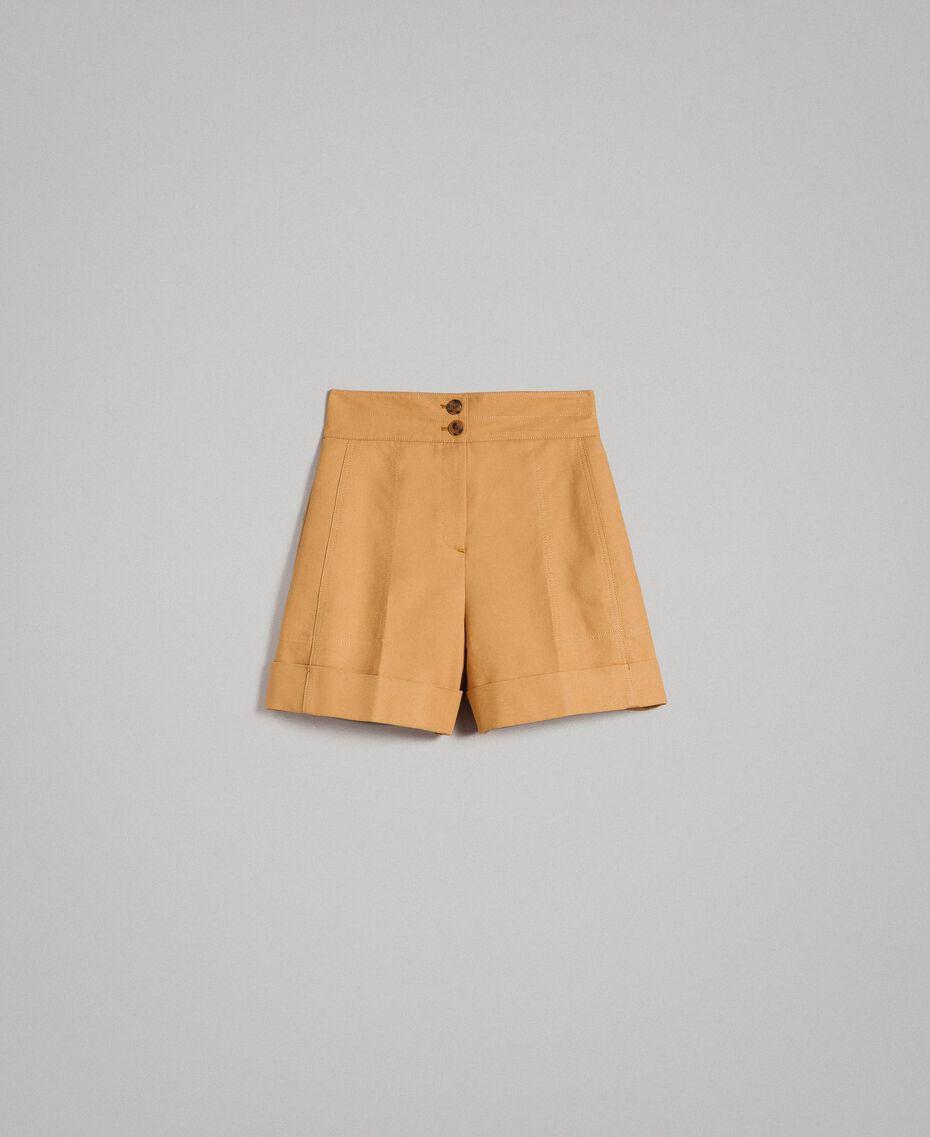 """Shorts aus technischer Baumwolle """"Mid Tan"""" Braun Frau 191TP2182-0S"""