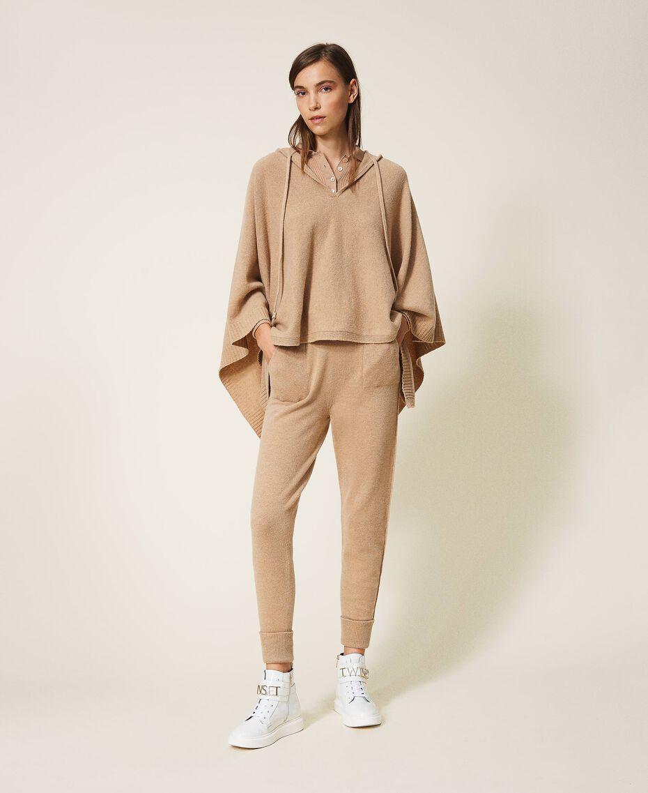 Pantalon de jogging en cachemire et laine Beige «Pastel Skin» Femme 202TT3014-02