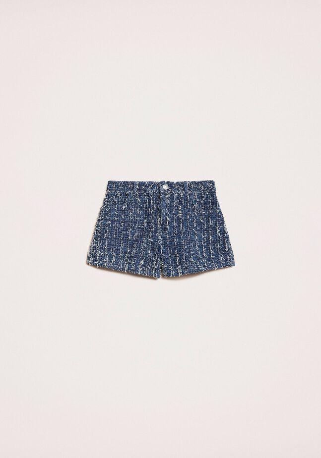 Shorts in jeans con bouclé