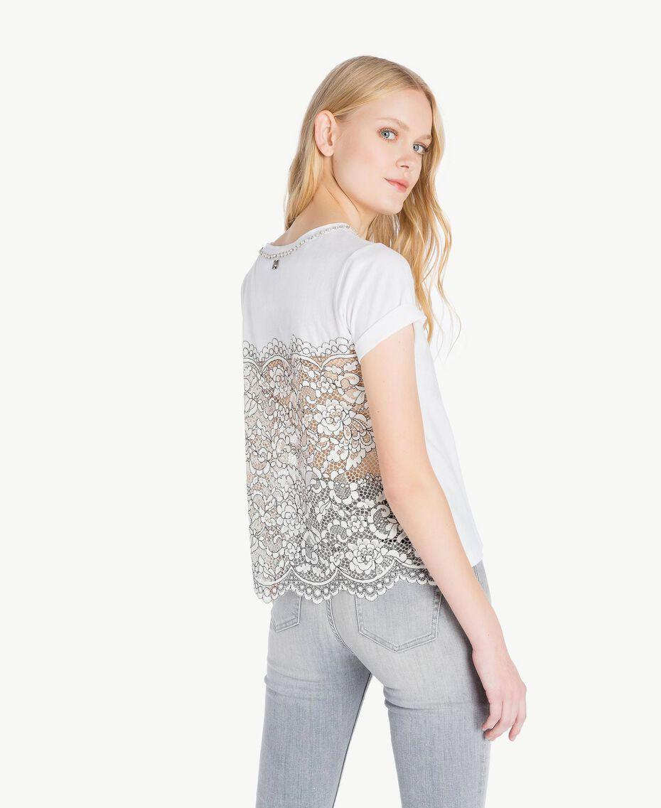 T-shirt perles Blanc Femme JS82RL-03