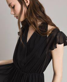 Длинное платье из крепона Черный женщина 191LB21HH-04
