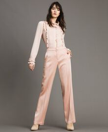"Cady envers satin trousers ""Nude"" Beige Woman 191TP2691-01"