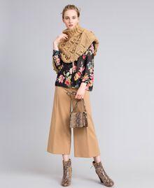 Cappa in maglia mélange Camel Donna PA83LA-0T