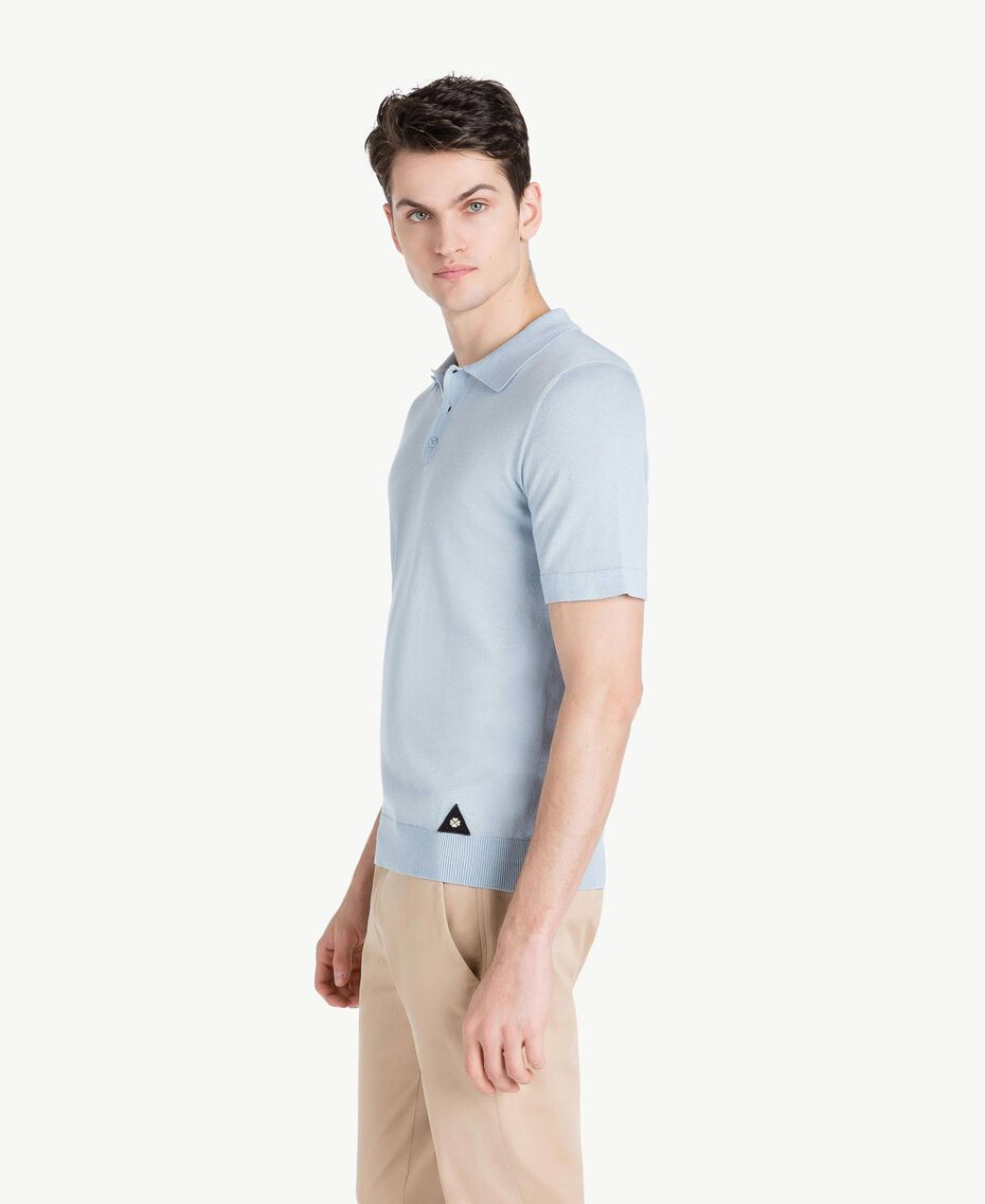 Cotton and cashmere jumper Ice Blue Man US831C-02