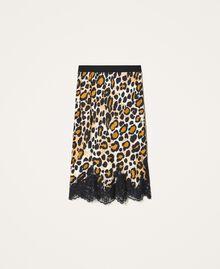 Falda de raso animal print Estampado Animal print Mujer 202LL2EHH-0S