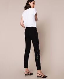 Push up jeans with sequins Black Denim Woman 201MP2261-04