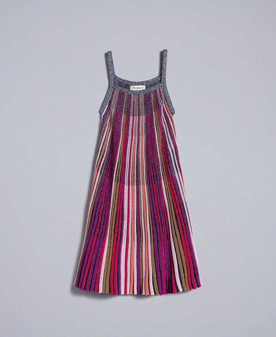 Multi-colour lurex dress Multicolour Lurex Child GA83KP-01
