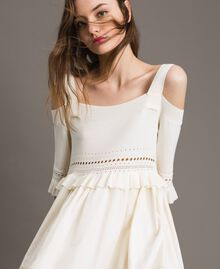 Broderie anglaise knit dress White Snow Woman 191TT3013-04