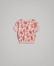 Cardigan à fleurs en tricot de lurex Imprimé Mini-Fleurs Enfant 191GB3050-0S