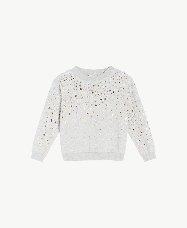 Sweat-shirt clous Gris clair chiné Enfant GS82G2-01